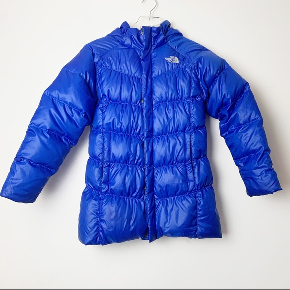 Northface 550 girls down puffer jacket with hood